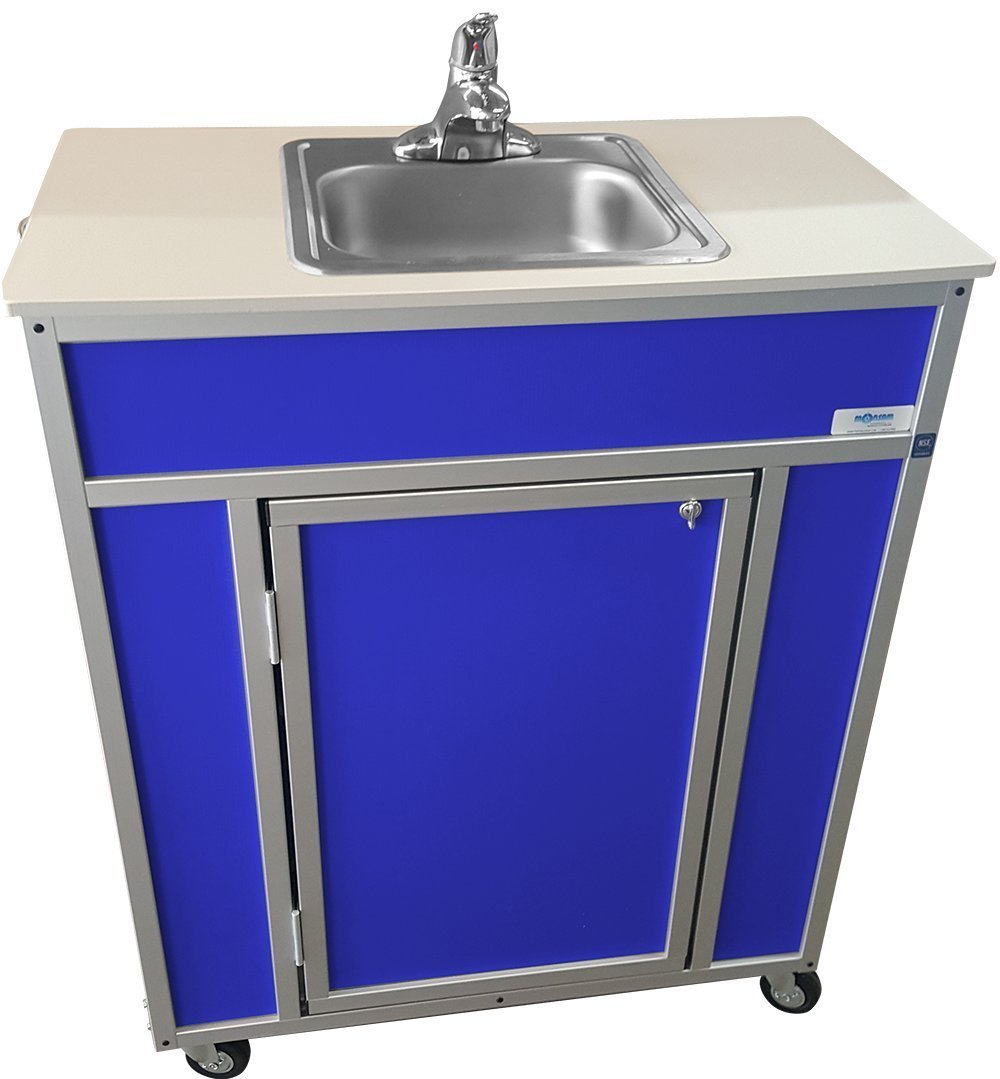 Monsam NS-009S NSF Certified Single Basin Self Contained Portable Sink, Blue by Monsam Enterprises