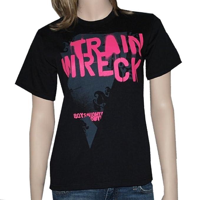 ad0154ca2e Amazon.com  Boys Night Out - Train Wreck - Black T-shirt - size ...