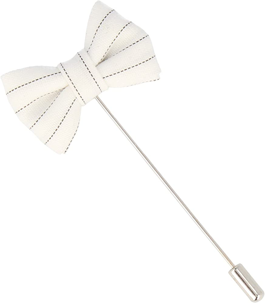 Mr Icone Solapa Botones corbata de lazo Prendedor Broche blanco ...
