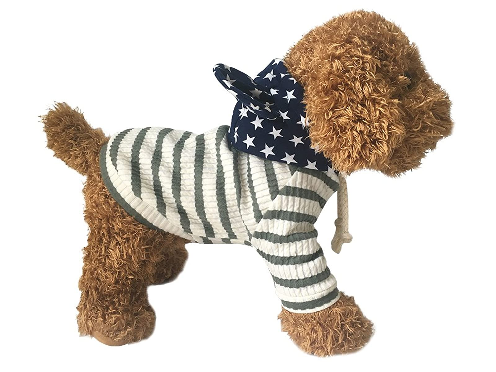 EastCities Pet Clothes Dog HoodiesSmall Dogs CatGreen - 2