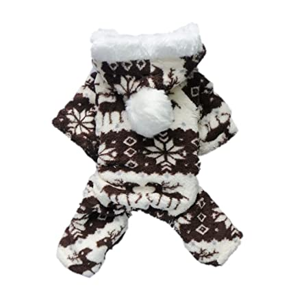 c61584a54e00 AStorePlus Christmas Reindeer Style Dog Winter Coat Clothes Puppy Warm  Jumpers Hoodie Labrador Cats Jumpsuit Soft Cozy Pet Jacket Dog Coat