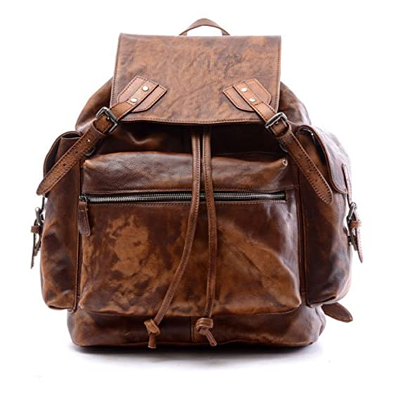 Amazon.com | LadyBagsSF Thick Leather Backpack | Casual Daypacks