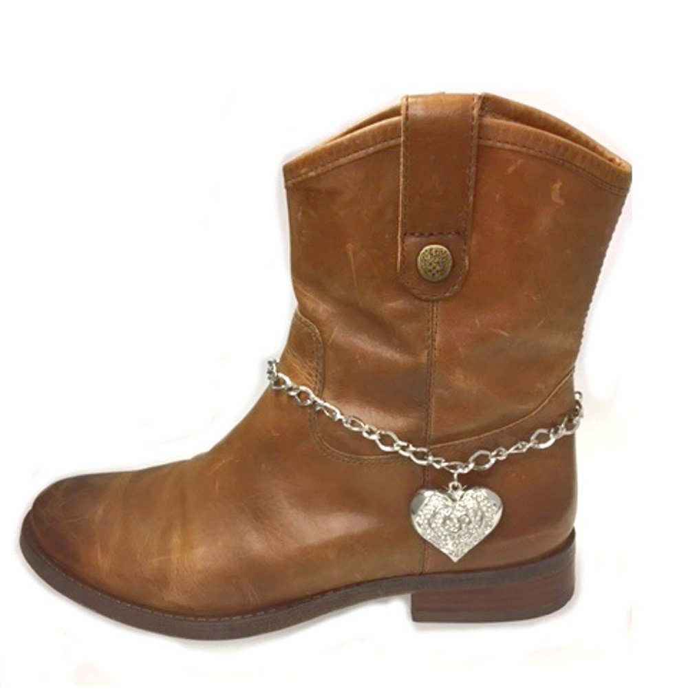 RC Boot Jewelry Chain Anklet Large Single Crystal Heart