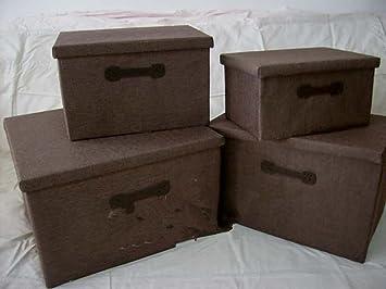 Caja De Armario De Almacenamiento De Cassette De Sábanas Y Toallas Plegada Y Almacenada De Acabado Caja Cuadrada,39 * 27 * 26: Amazon.es: Hogar