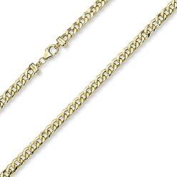 nuovo stile e34b2 c3e12 5,5 mm catena collana fantasia collana in oro giallo 585 ...