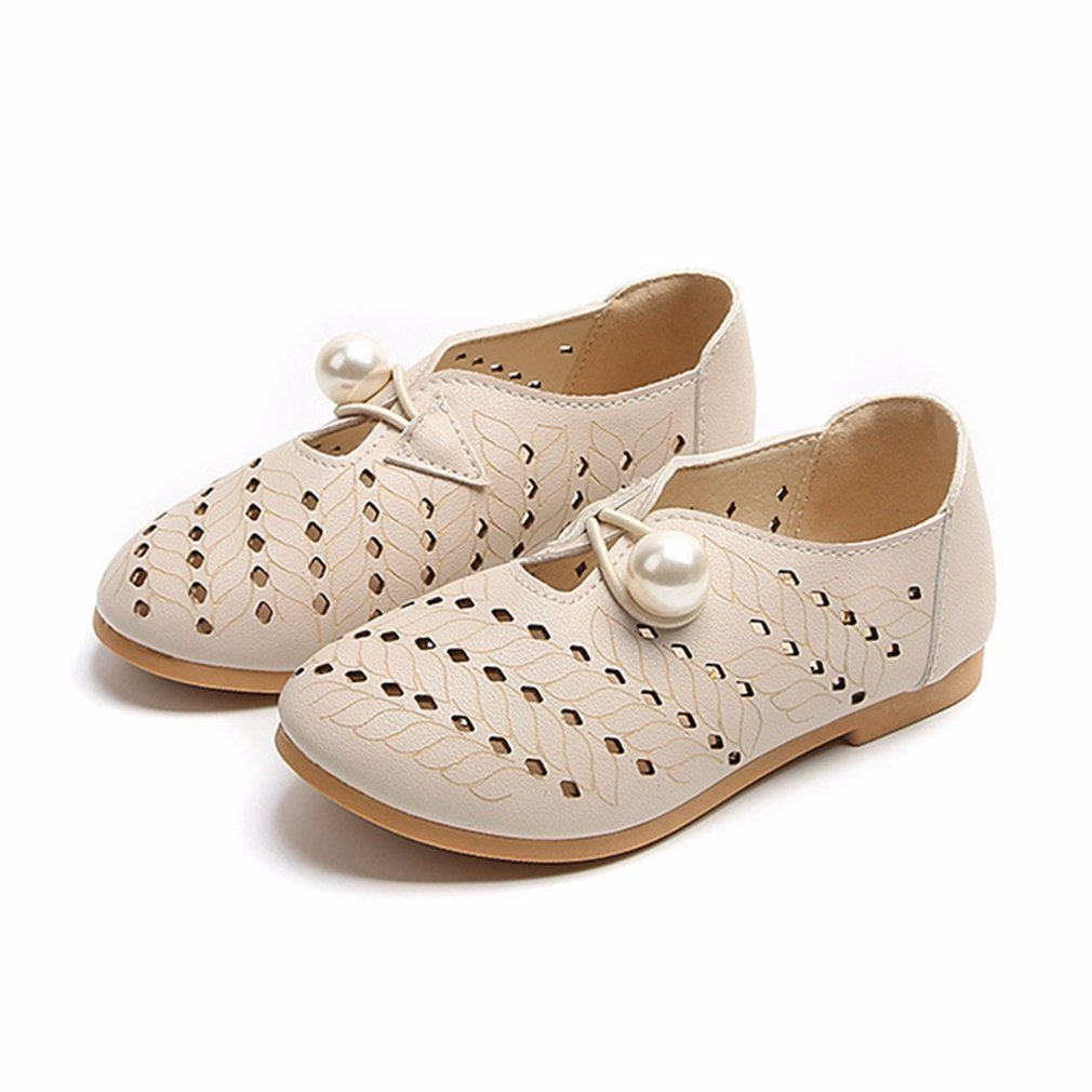 CYBLING Baby Toddler Girls Mary Janes Flats Breathable Hollow Out Casual Shoes (Toddler/Little Kid)