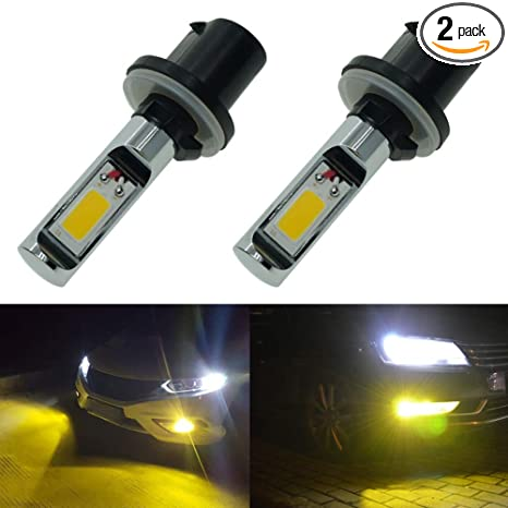 Calais Extremely Bright 880 LED Fog Light bulb Yellow 3000K 2000 Lumens  High Power COB Chips 890 892 893 LED Fog Lamp Bulbs Replacement (Set of 2)