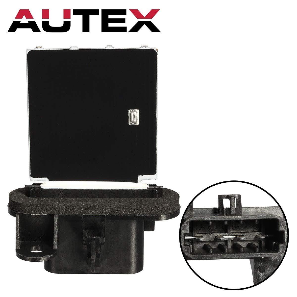 AUTEX Manual HVAC Blower Motor Resistor RU464 10398065 1580577 15818910 52486864 Replacement for 2006 2007 2008 2009 2010 Chevy Cobalt Hhr 2007 2008 2009 2010 Pontiac G5 2005 2006 Pontiac Pursuit