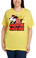 Disney Women's Plus Size T-Shirt Minnie Mouse Print
