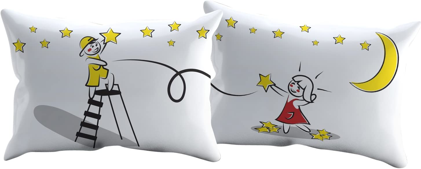 Couples Pillowcase Sets - Valentines Day Romantic Gift Idea- Closeout Pricing (Stars)