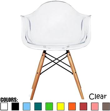 Amazon.com: 2xhome, sillones estilo Eames, Plástico: Kitchen ...