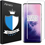 Alinsea Screen Protector for OnePlus 7 Pro/7T Pro Tempered Glass [Full Adhesive] [Fingerprint Sensor Compatible][3D…