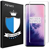 Alinsea Screen Protector for OnePlus 7 Pro/7T Pro Tempered Glass [Full Adhesive] [Fingerprint Sensor Compatible][3D Glass] Sc