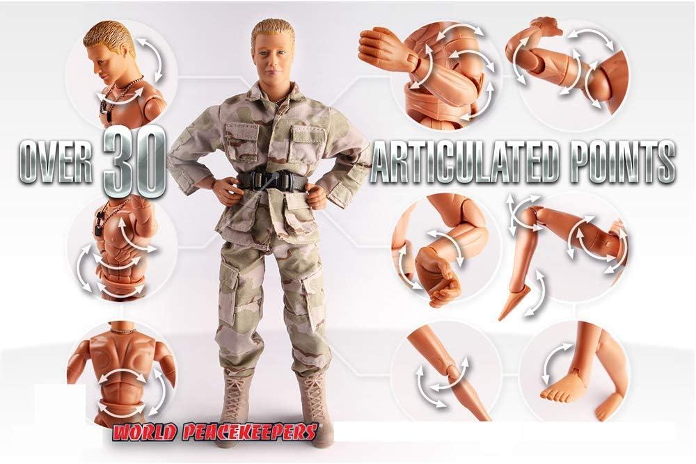 "World Peacekeepers 12/"" Soldier Action Figure and Kawasaki KLR650 Motorbike 1:6"
