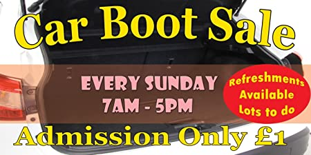 Car Boot Sale Customised Your Details External Banner Choose Size