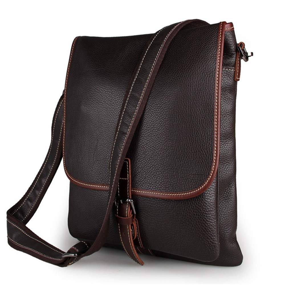Amyannie Laptop Messenger Bag Men's and Women's Leather Postman Shoulder Bag Can Hold IPad Tablet Bag Briefcase Laptop Messenger Bag (Color : Brown) by Amyannie (Image #3)