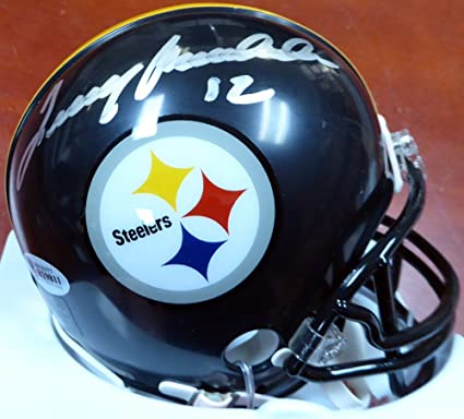 61f41dab5 TERRY BRADSHAW AUTOGRAPHED PITTSBURGH STEELERS MINI HELMET BECKETT BAS  STOCK  115038