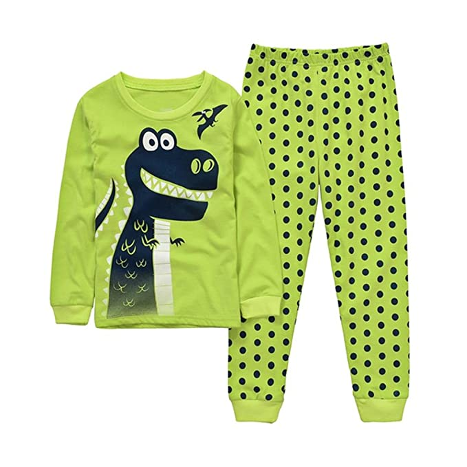 mammybaby dinosaurios Little Boys juego de pijama 100% algodón bebé ropa drg7412