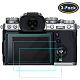 QIBOX Screen Protector Compatible with Fujifilm X-T3, 3-Pack Tempered Glass Screen Protection LCD Guard Compatible with Fuji