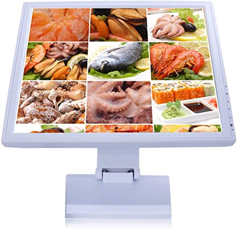 Monitor LCD táctil SenderPick de 17 pulgadas, pantalla con soporte POS con resolución USB, 1280 x 1024, pantalla táctil VGA para comercios minoristas y restaurantes: Amazon.es: Informática