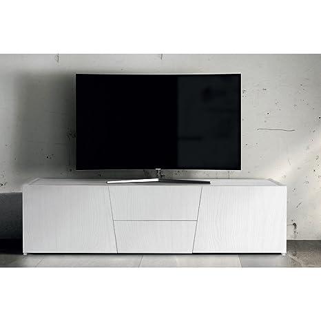 Mobile Tv Porta Tv Cm 165 X 45 X 45 H Abete Spazzolato Bianco Per ...