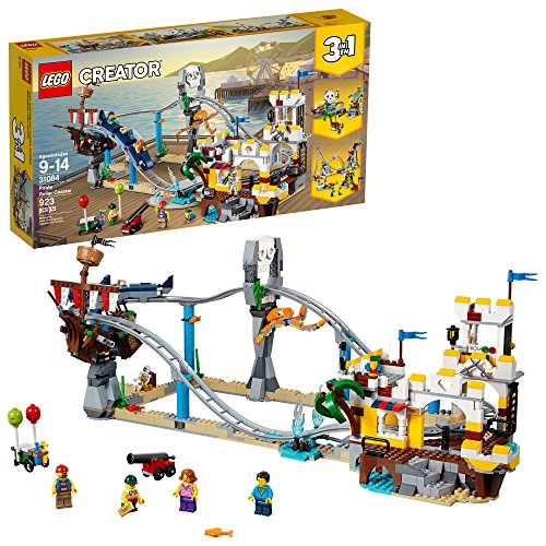 LEGO Creator 3in1 Pirate Roller Coaster 31084 Building Kit (923 Piece) (Wheel Lego Ferris)