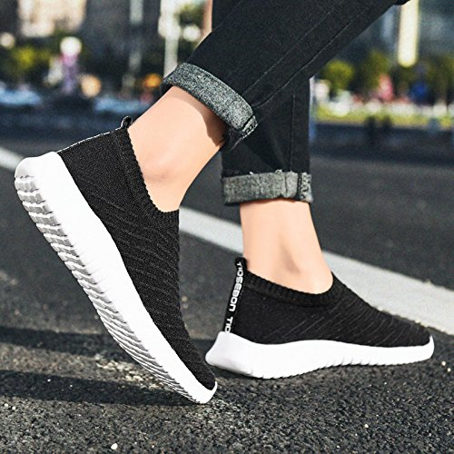 Shoes Sneakers US 5 Black Mesh Women's Athletic Running Casual Walking Shoes TIOSEBON Breathable HUECSxy