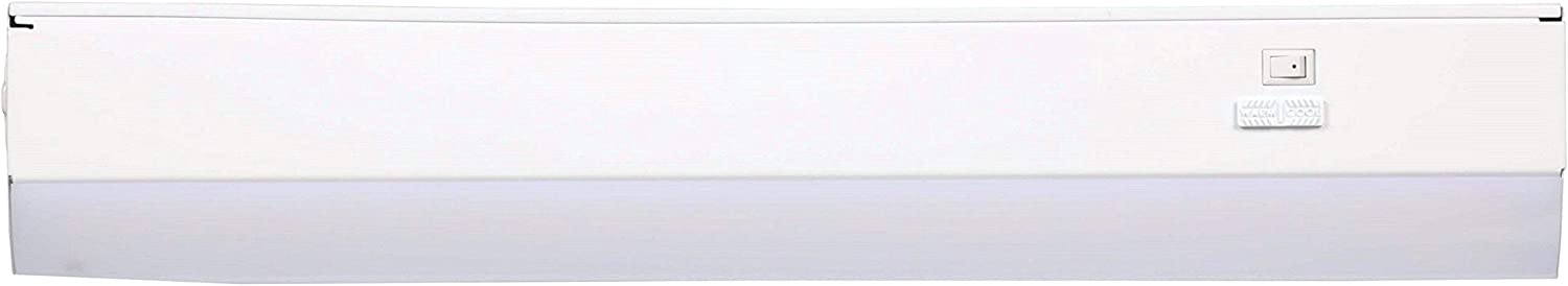 Good Earth Lighting 18-inch LED Slim Direct Wire Linking Light Bar - 2700K/3400K/4000K White Color Selectable - 50,000 Hours Lamp Life - Dimmable - Energy Star - White