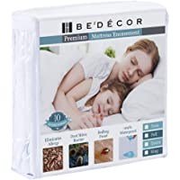 Bedecor 2 Packs Queen Size Waterproof Mattress Protector - Breathable Noiseless and Hypoallergenic - Premium Fitted Cotton Terry Cover