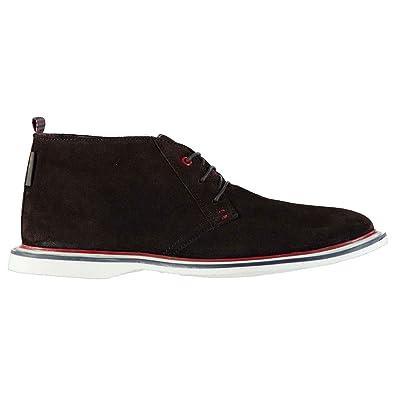 Herren Modern Chukka Stiefel Velours Boots Schnürstiefel Braun Velours 10 (44) Ben Sherman Angebot i3qucvOOwj