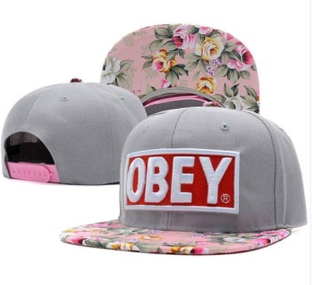 Diseño de flores de diseño de los sombreros OBEY gris para hombre ...