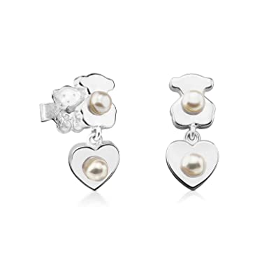 8e0db04eff9c Image Unavailable. Image not available for. Color  TOUS Sterling Silver  Pearl Super Power Drop Earrings