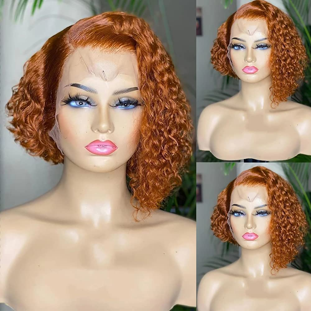 Derun Curly Sale Special Price Bob Lace Front Wigs T Max 68% OFF 13×6 Hair Part Human Shor