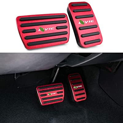 Thenice for 10th Gen Civic Anti-Slip Foot Pedals Aluminum Brake and Accelerator Pedal No Drilling Covers for Honda Civic 2020 2020 2020 2020 -Red: Automotive