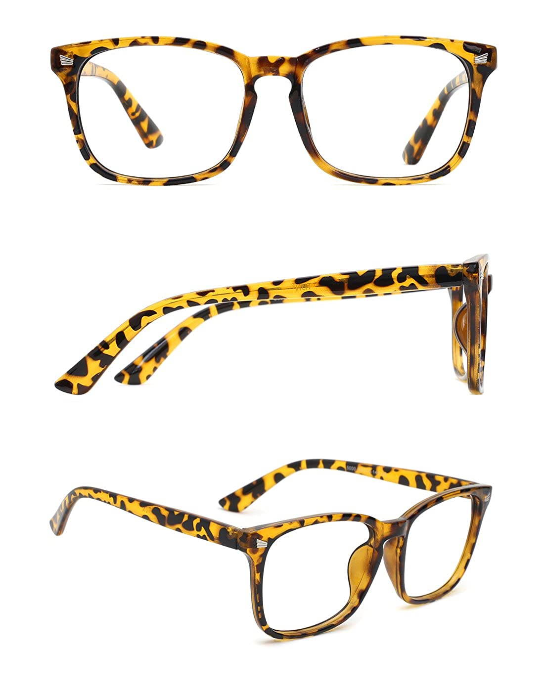 c99042d825 ... TIJN Unisex Stylish Square Non-prescription Eyeglasses Glasses Clear  Lens Eyewear 00005008 ...