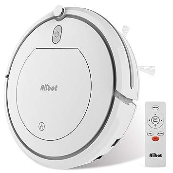 Aiibot Robot Aspirador Navegación Inteligente, Robot de Limpieza Fuerte Succión con Control Remoto, Sensor