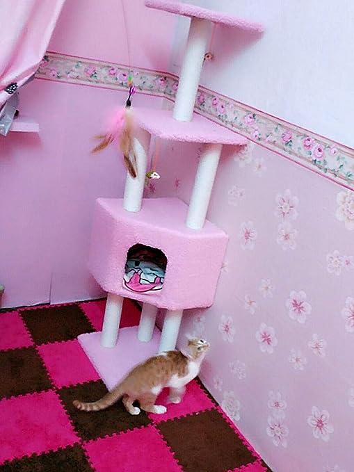 Para Gatos Con Árbol Para Gatos Gatos Rascador Con Rascador Para Gatos Árbol Rascador Para Soporte Para Gatos Nido De Gato Juguete Para Mascotas Gato Para Escalar Gato Gato Rascador Árbol Rosa: