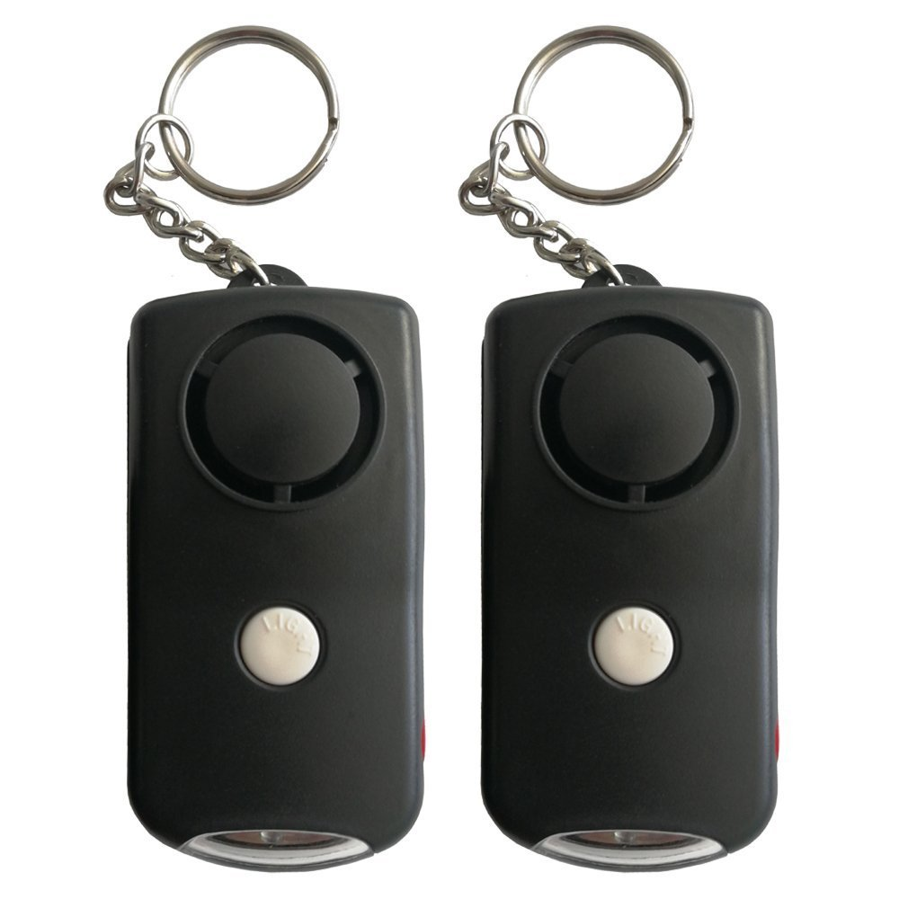 Personal Alarm Security Devices Keychain 130dB - LED Flashlight Self Defense SOS Emergency Human Voice Safety Sirens for Women Teen Girls Kids Student Explorer Night Workers