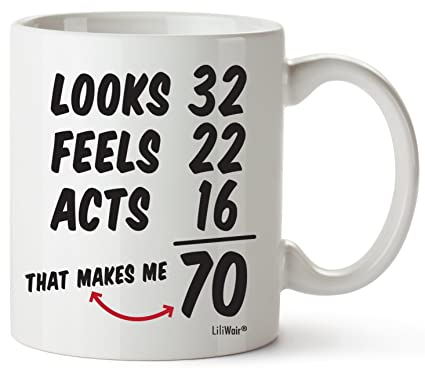 70th Birthday Gifts For Women Seventy Years Old Men Gift Mugs Happy Funny 70 Mens Womens