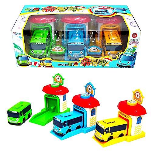 The Little Bus Tayo Shooting Car Bus and Staion Set Rogi Tayo Rani