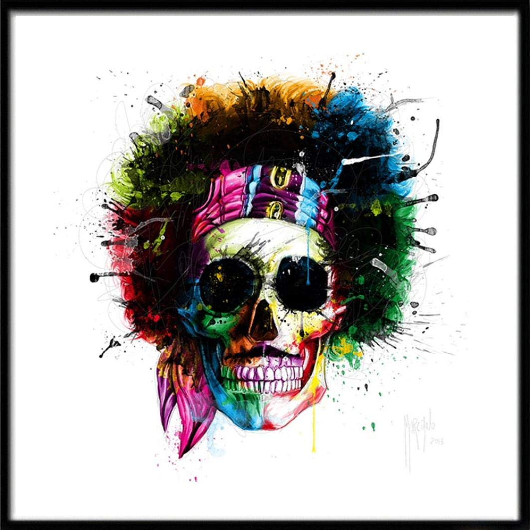 DIY 5D Diamond Painting, Prevently Halloween Skull Pumpkin 5D Embroidery Paintings Rhinestone Pasted DIY Diamond Painting Cross Stitch Home Wall Decor (Colour A) Prevently Home