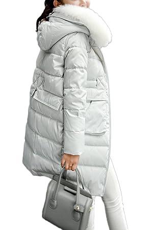 xiaoming Women's Winter Faux Fur Hood Down Coat Jacket