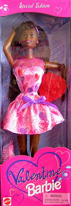 valentine barbie doll aa special edition 1997