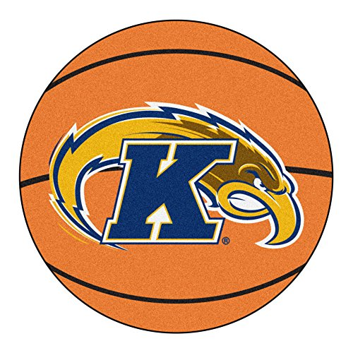 Golden Flashes Basketball - NCAA Kent State University Golden Flashes Basketball Shaped Mat Area Rug