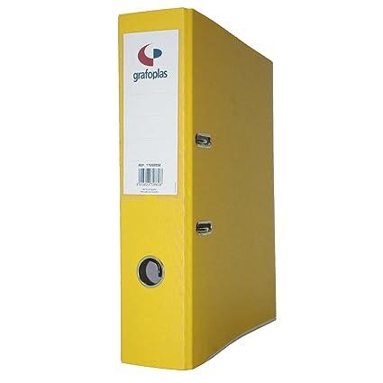 Displast - Archivador az fº carton forrado l-70 amarillo - 10