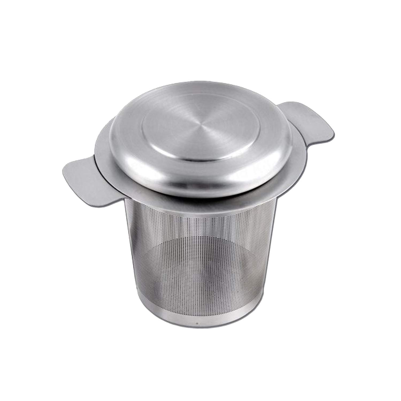 Teekanne Sieb Edelstahl Teesieb Teefilter für Ø 6-8, 5 cm mit Mikrolochung Tee Filter EQT-TEC