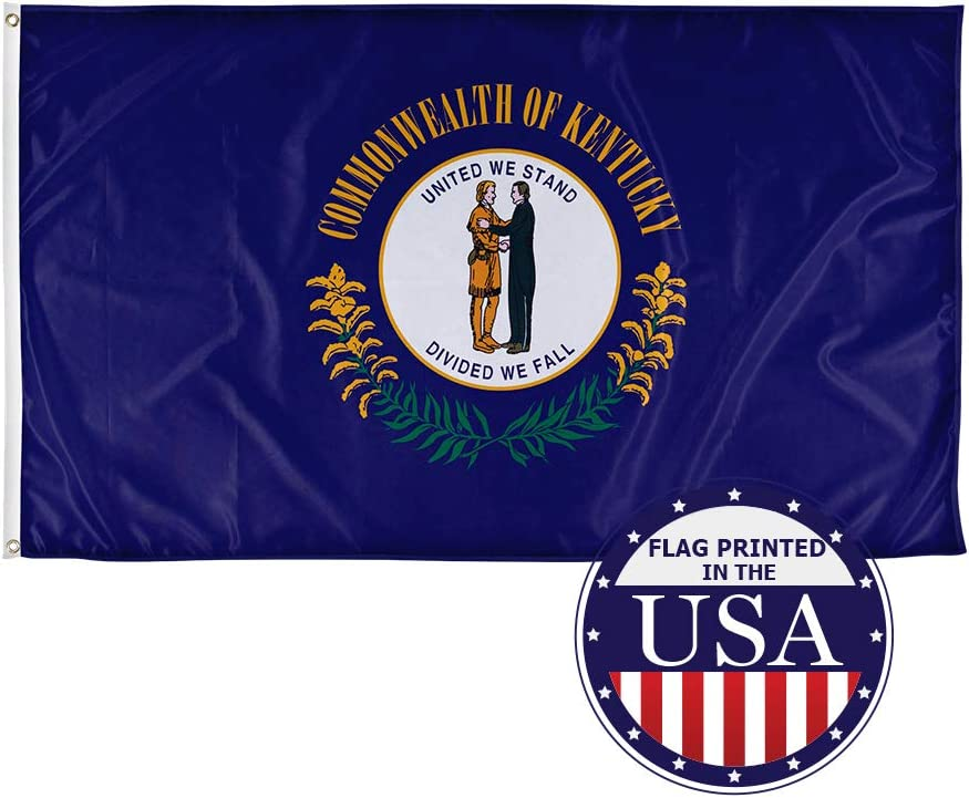 Vispronet - Kentucky State Flag - 3ft x 5ft Knitted Polyester,State Flag Collection, Made in America (Flag Only)