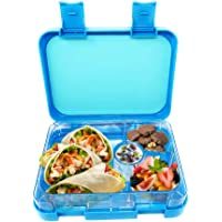 Munchebox Kids Bento Lunch Boxes - Meal Prep Lunch Box - Leakproof 4 Compartment Bento Box Style for Meal and Snack - for Children, Kids, Teens, Adults