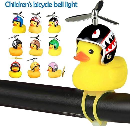Nifera - Timbre de Bicicleta para niños con Luces y Cuerno de Pato ...