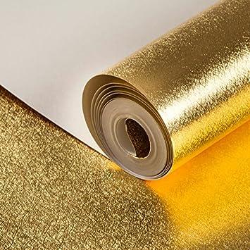 Solide Schlicht Gold Goldene Zeichnung Zeichnung Tapete Tapete Hotel